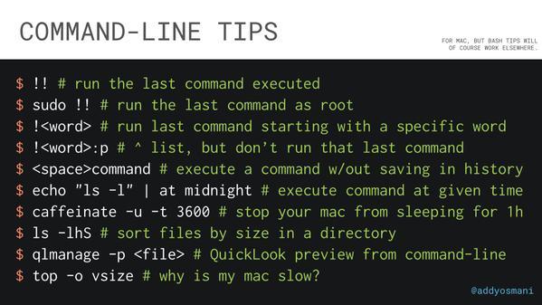 CLI tips