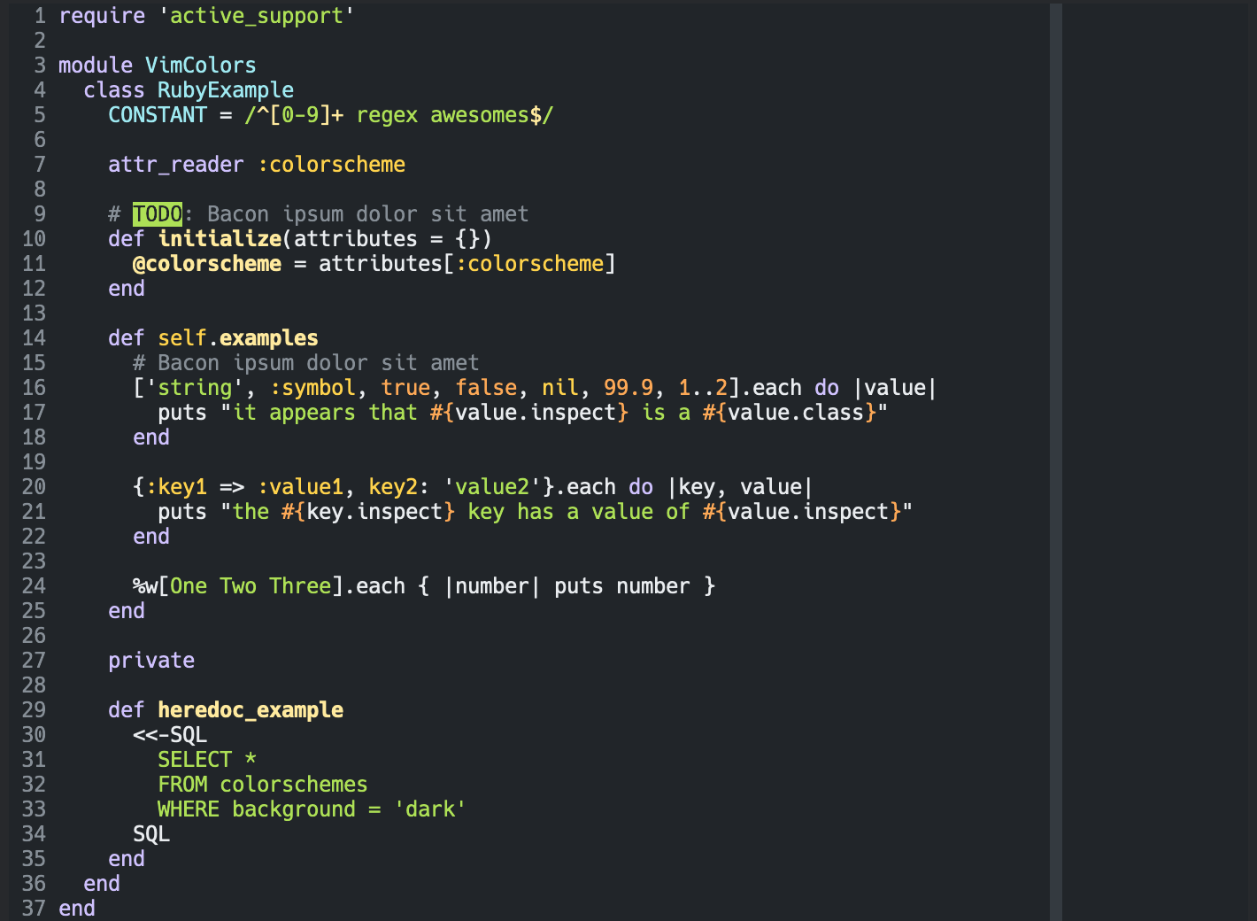 open-color.vim with dark background in GUI
