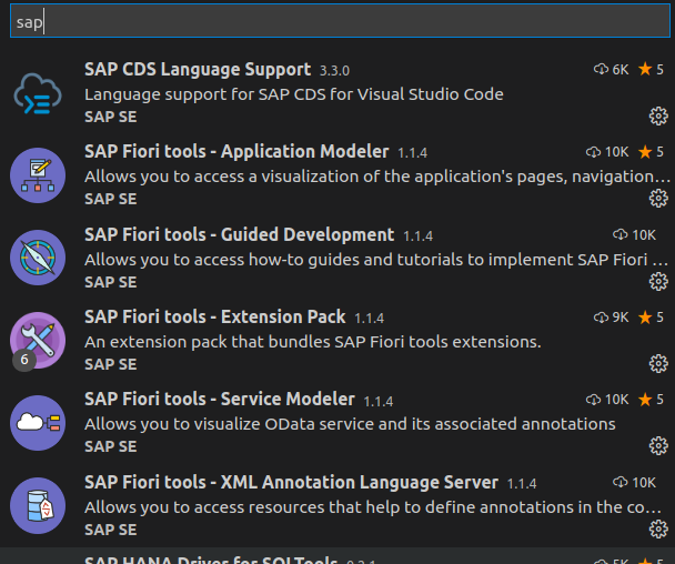 Selected Extensions