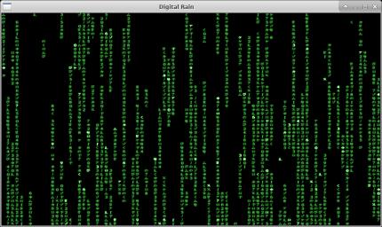 """digital rain"" screenshot"