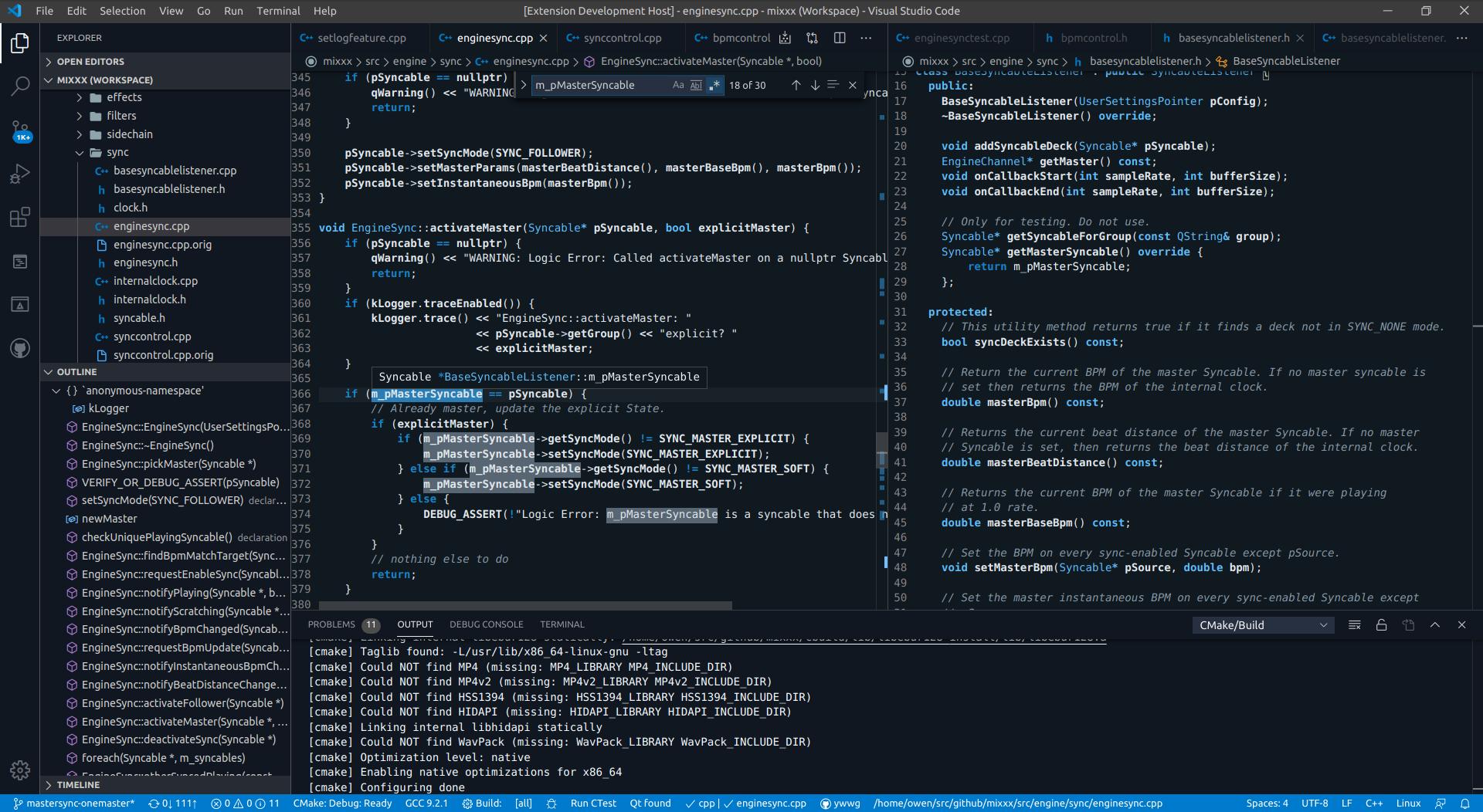 Visual Studio Code Cerulean dark theme preview