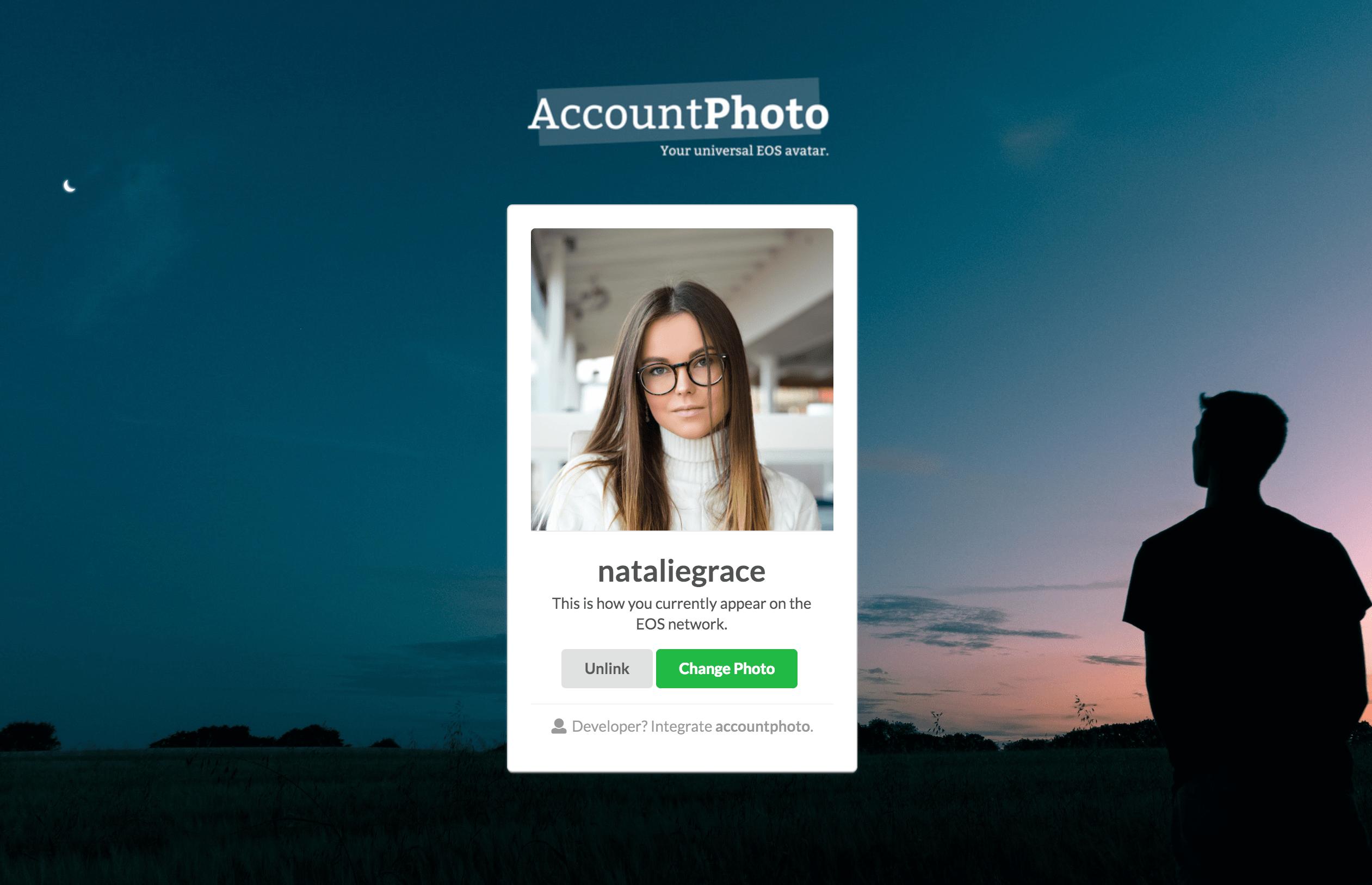 AccountPhoto Screenshot