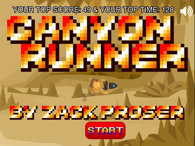 CanyonRunner Splash Screen