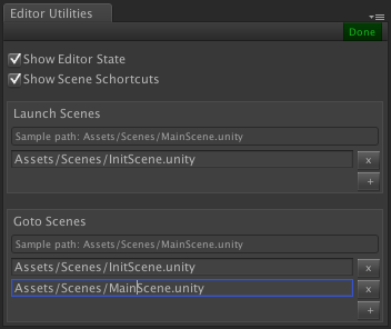 Editor Utilities Settings