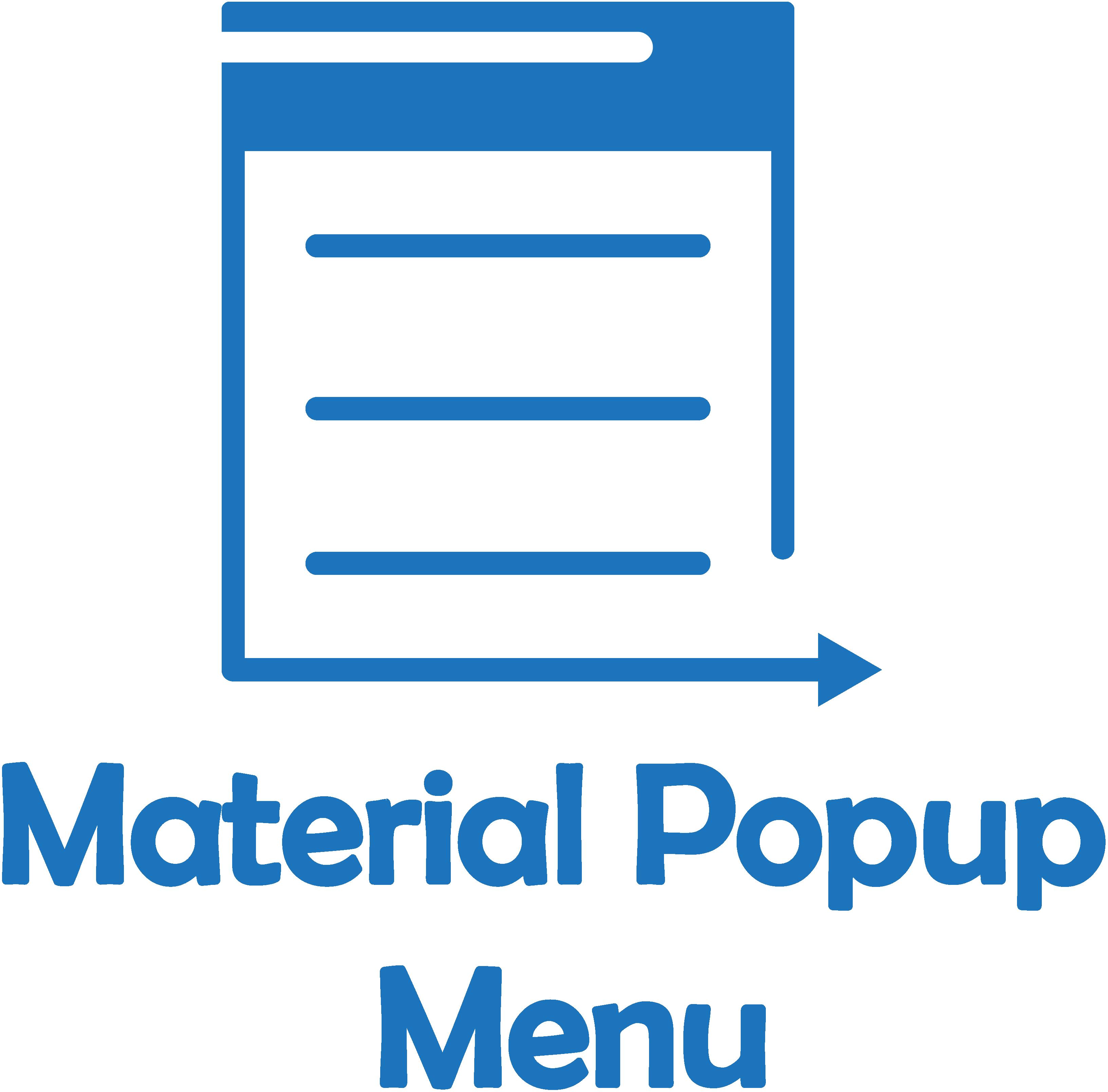 The Android Arsenal - Menus - Material Popup Menu
