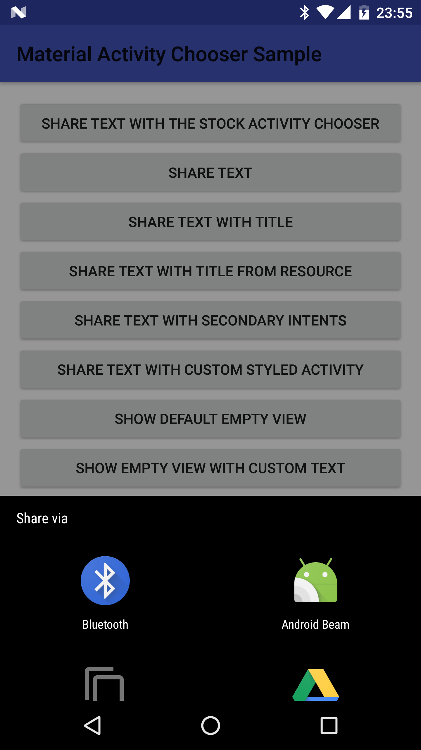 The Android Arsenal - Activities - Android Material Activity Chooser