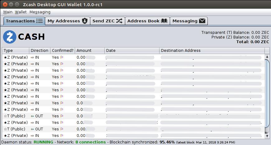 Zcash Desktop Wallet