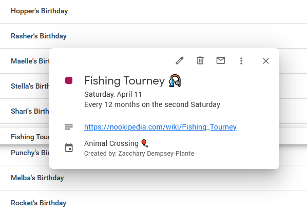 A screenshot of a Fishing Tourney event