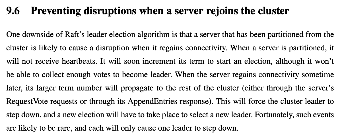 9.6 Preventing disruptions when a server rejoins the cluster