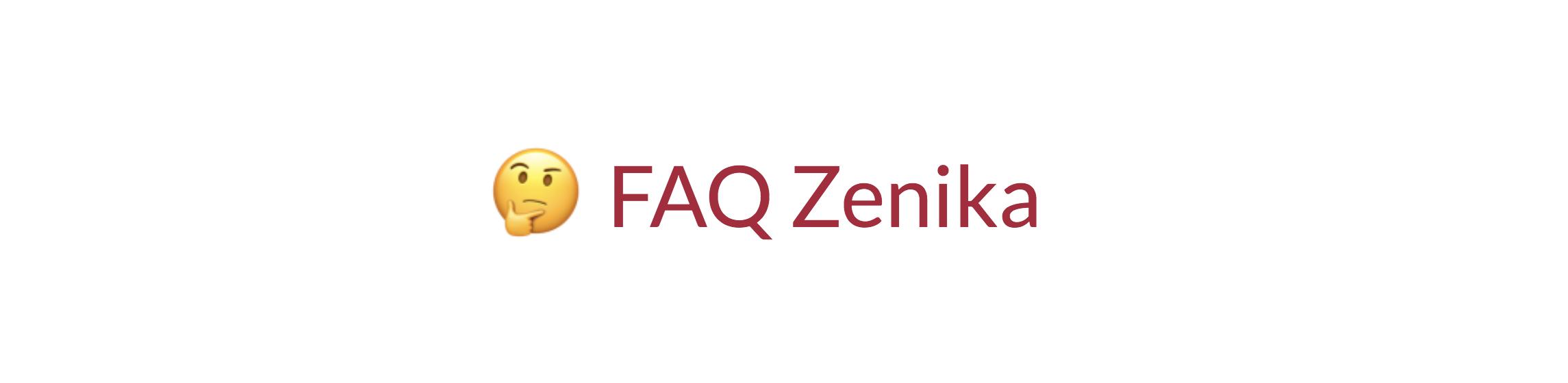 FAQ Zenika