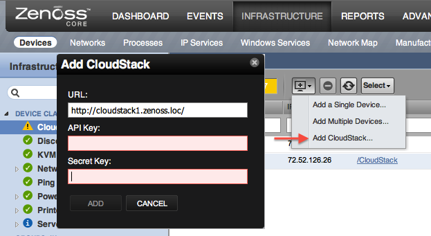 Add CloudStack