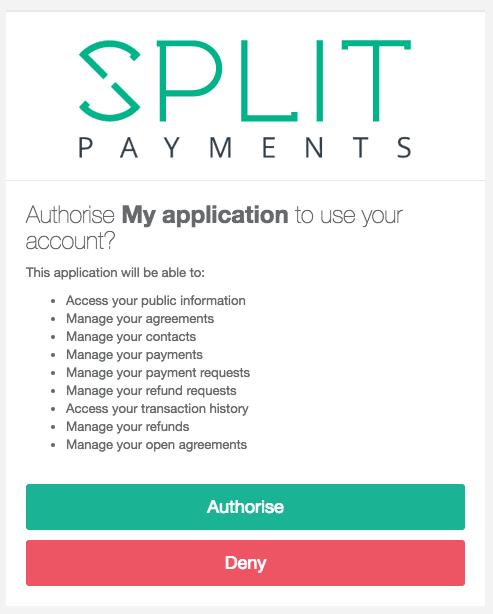 Authorise OAuth2 app
