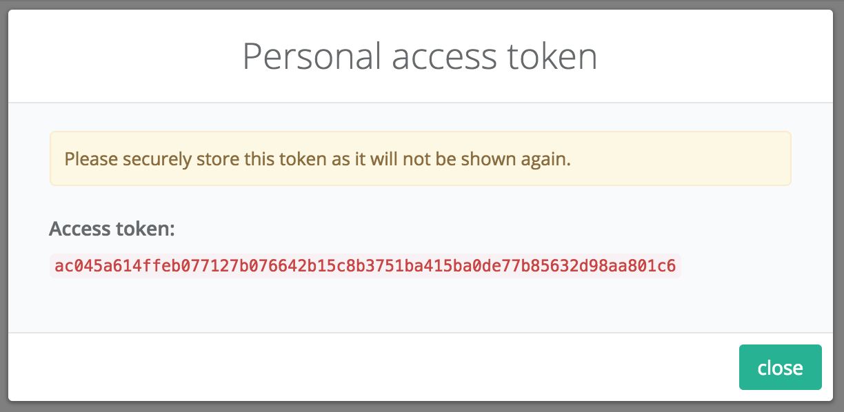 Zepto personal OAuth2 tokens