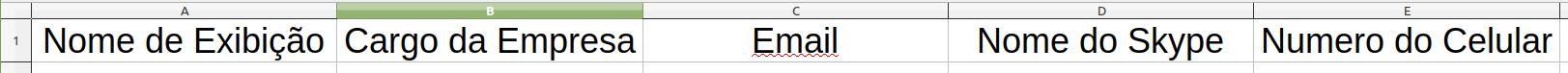 Exemplo Arquivo XLSX