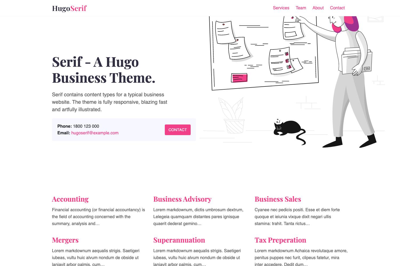Hugo Serif Theme screenshot