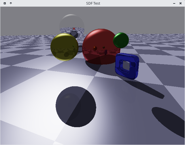An image generated by SDF Test, a minor raytracing project of mine