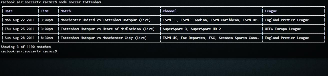 soccertv screenshot