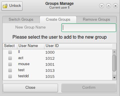 Group add: