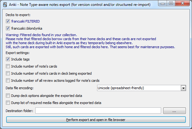 Maintenance: Note Type-aware export - AnkiWeb