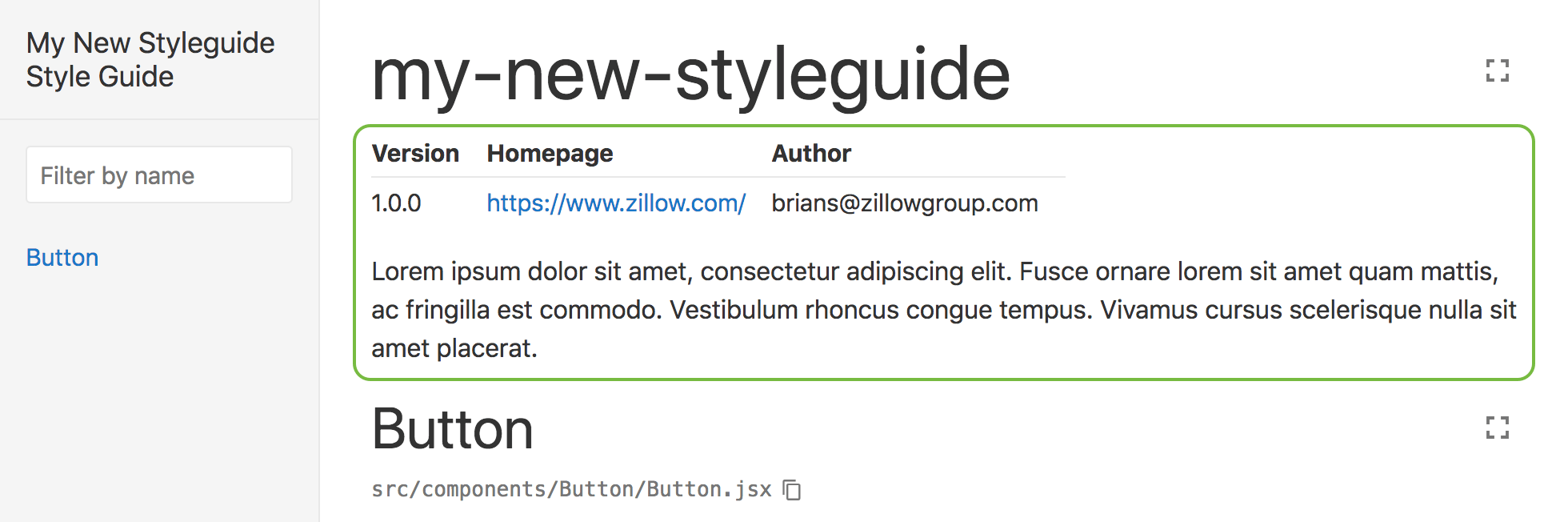 Customized style guide