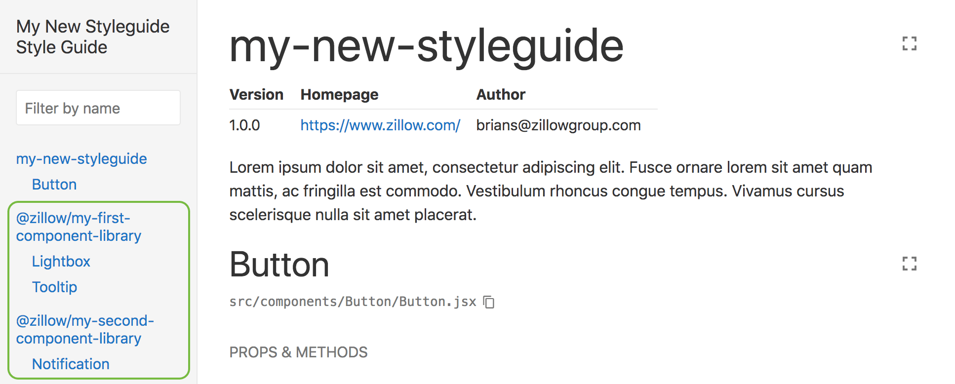 Linked style guide
