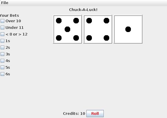 GitHub - zimmertr/Chuck-a-Luck: Chuck-a-Luck dice game