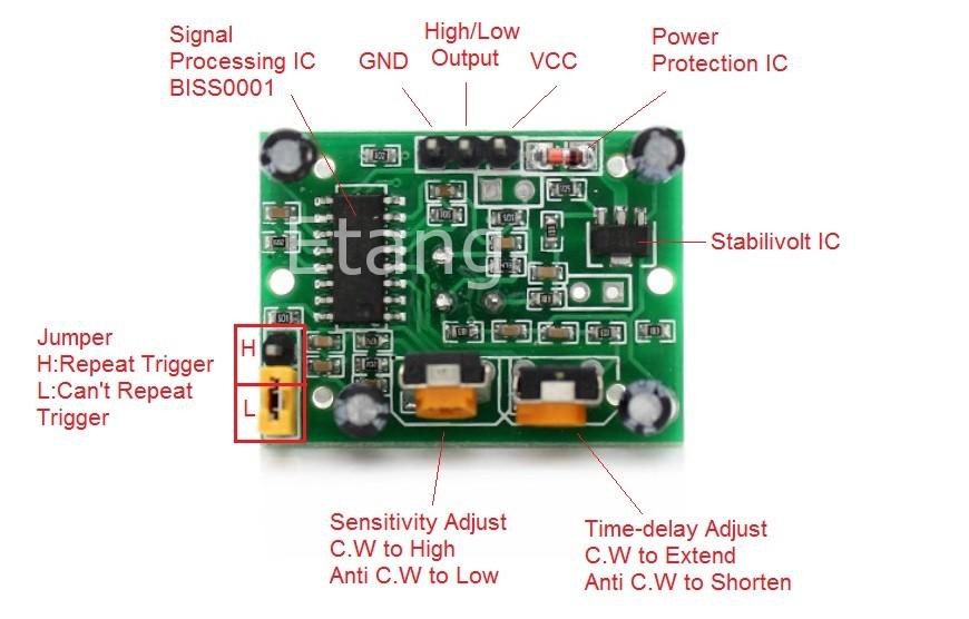 HCSR501on Raspberry Pi Arduino I2c