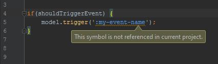 Non referenced symbol