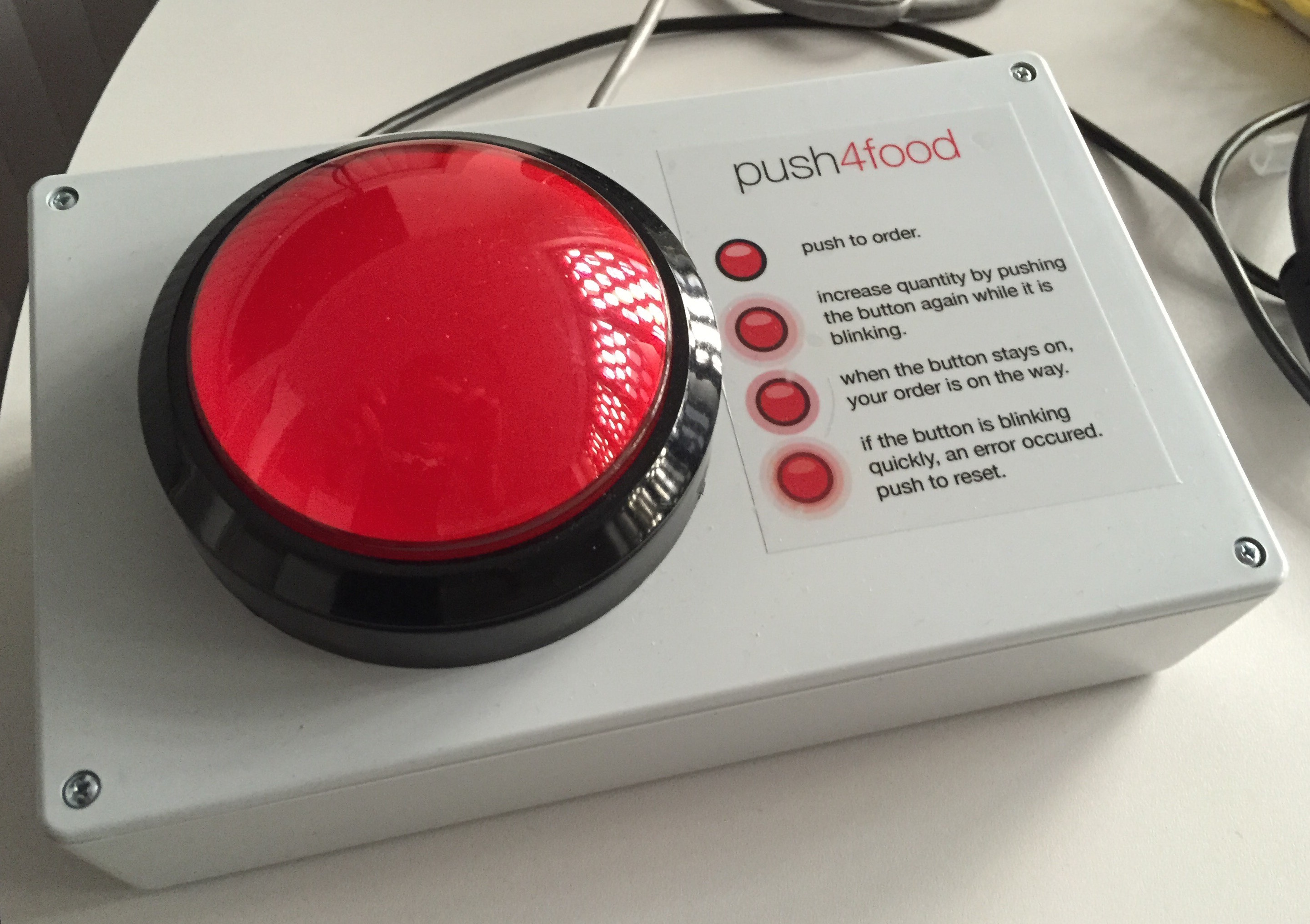 A Raspberry Pi based food ordering button
