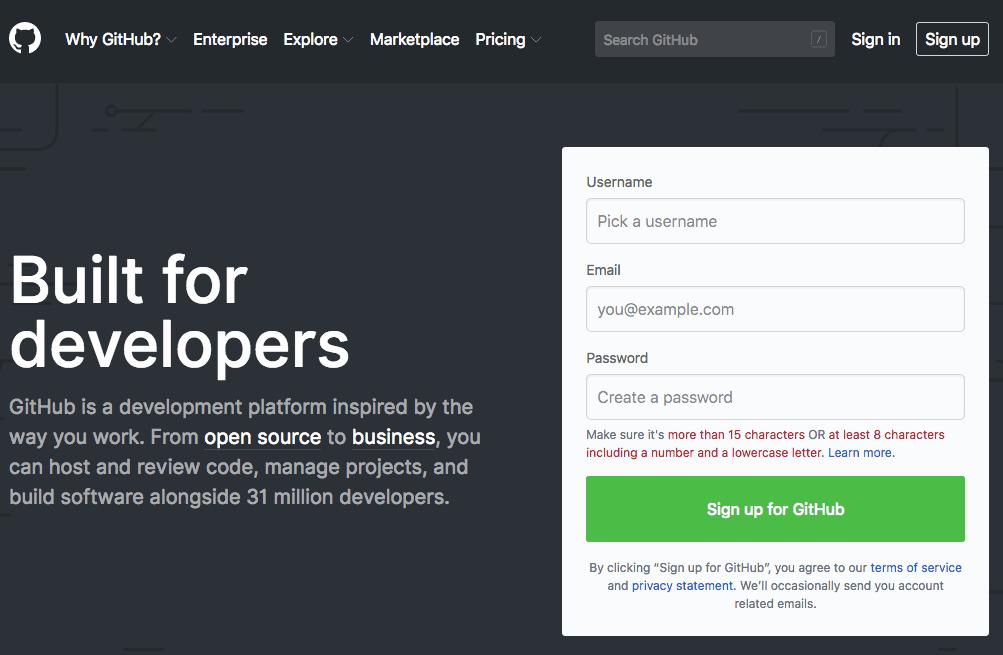GitHub 登入畫面
