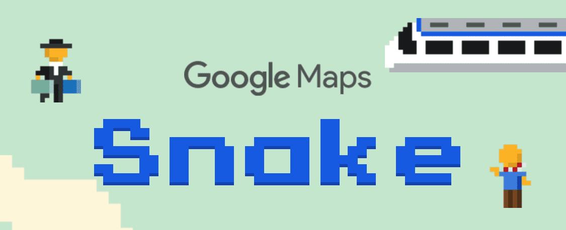 Google Map 手機版本有個好玩的地方,就是「貪吃蛇」