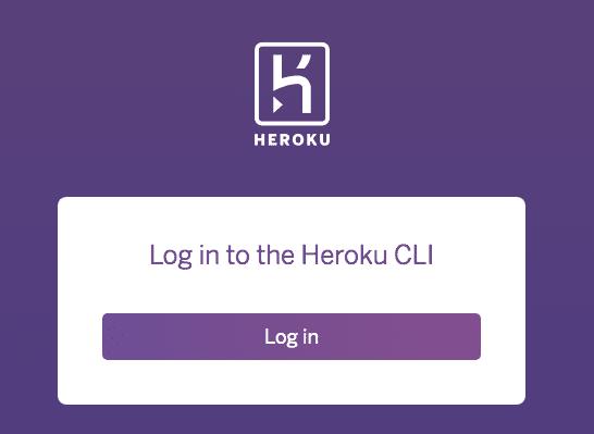 Heroku 登入的畫面