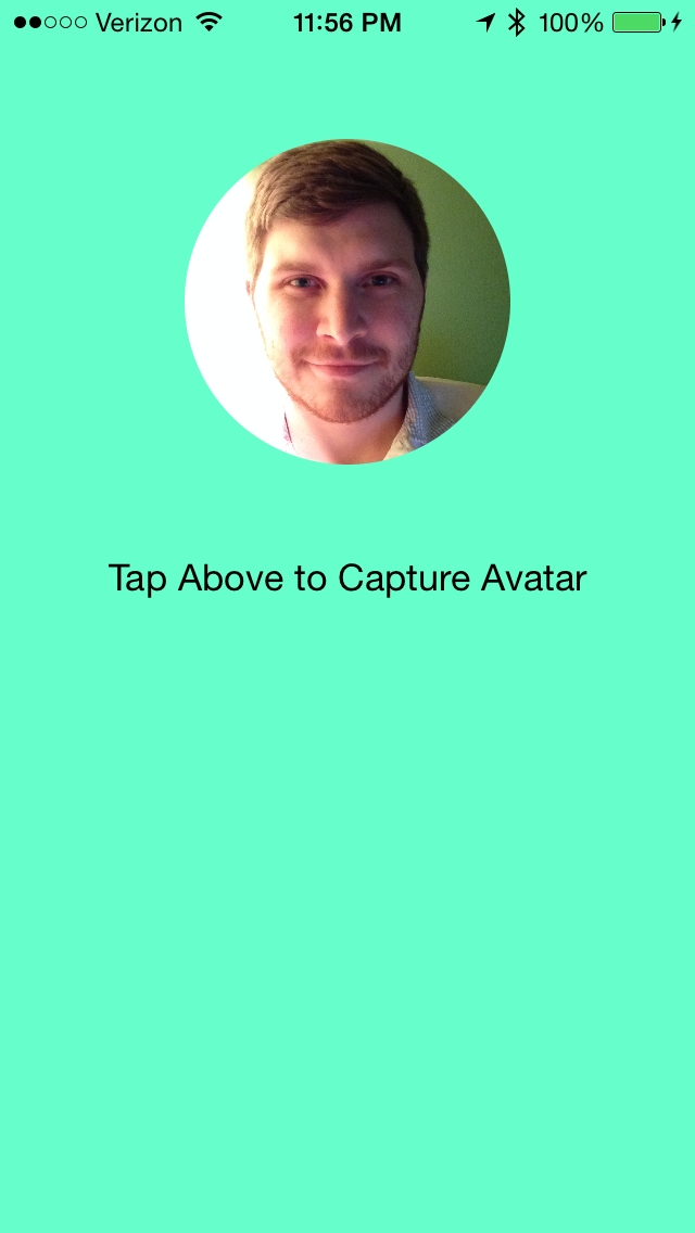 Example App after Avatar