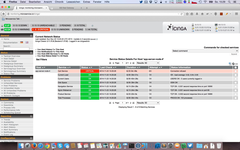 Icinga Status Report