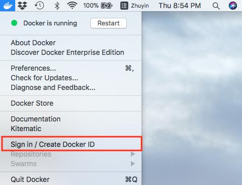 docker-login-for-mac