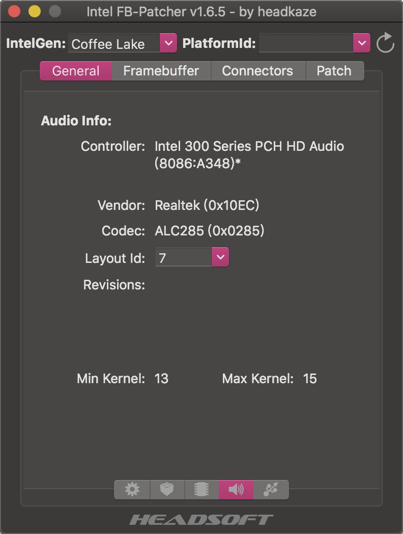 sound card information