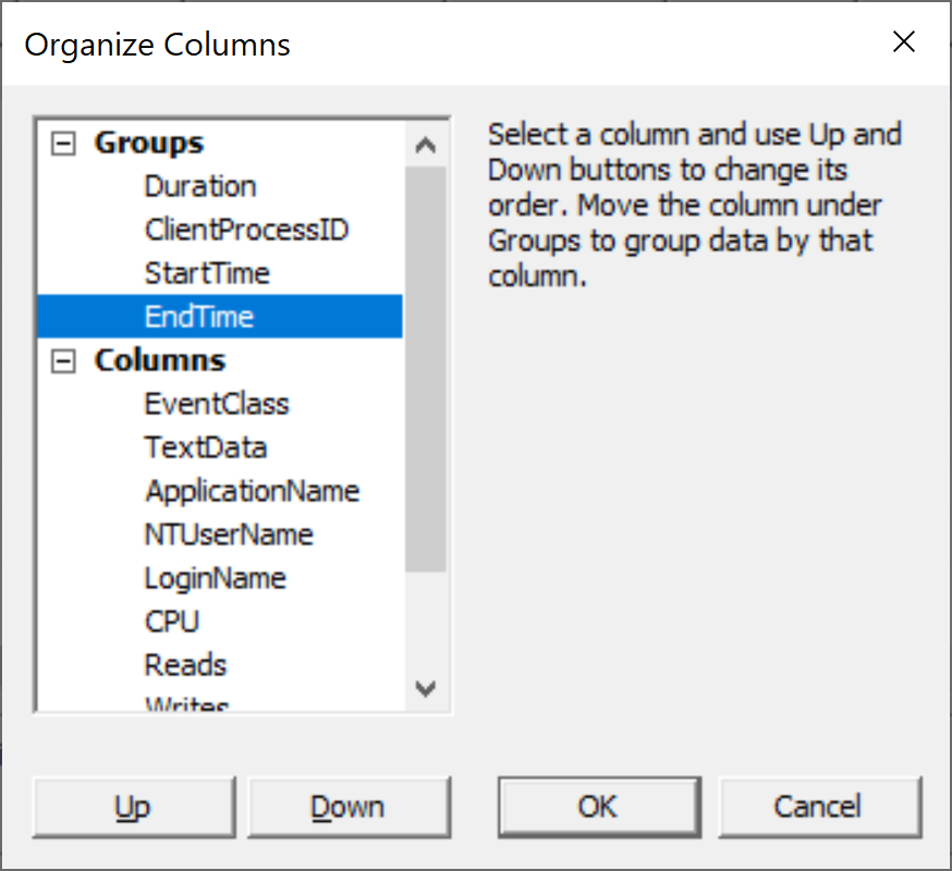 Organize Columns