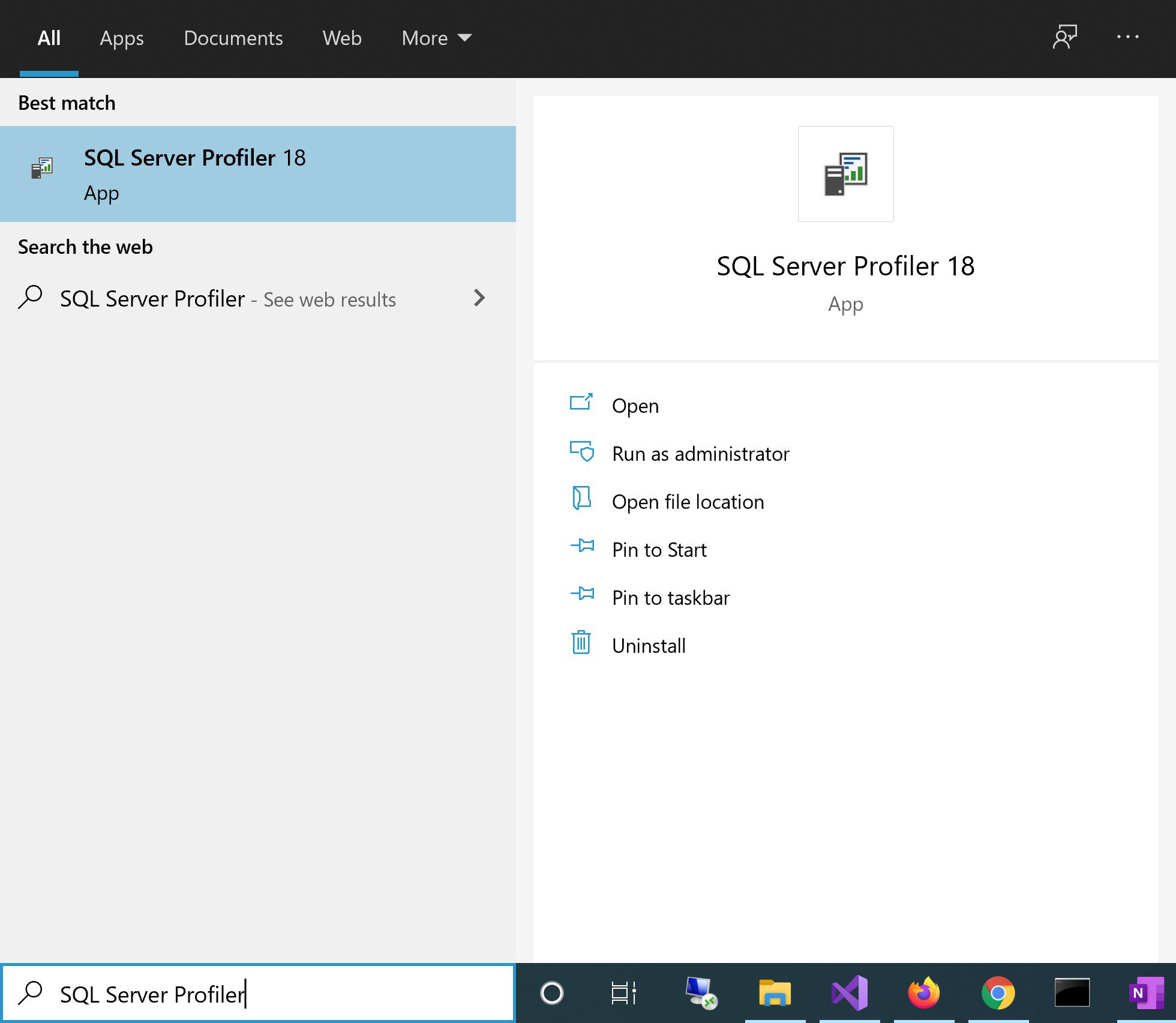 Launch SQL Server Profiler from Windows Explorer